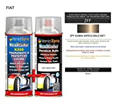 Kit Vernice Auto Spray ZFF SABBIA IMPECCABILE MET. e Trasparente Lucido Spray - kit ritocco vernice metallizzata 400+400 ml di VerniciSpray