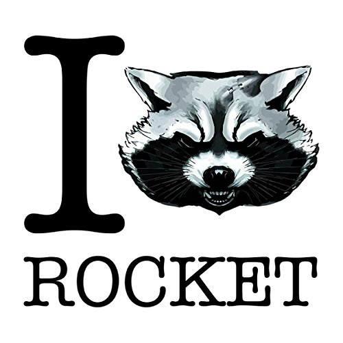 Guardians Of The Galaxy I Heart Rocket Raccoon Women's T-Shirt white
