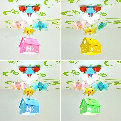 Bienenhaus LED-Leuchten Kinder Jungen und Mädchen Lampen Cartoon-Mädchen-Schlafzimmerlampe Beleuchtung Kinderzimmer hängen ( farbe : Gelb ) - 2