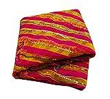 PEEGLI Neue Indische Ethnische Gestickte Sari Rosa