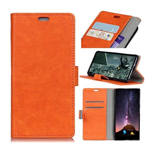 Handyhülle mit Eisen-Schnalle, Crazy Horse Muster, Multifunktionskartenetui, klassisch, einfach, Business Leder-Schutzhülle für iPhone 7 Plus/8 Plus (Schwarz), Orange iPhone 7 Plus/8 Plus -