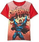 DC Comic Superman Hero, T-Shirt Garçon, Rouge (Red 19-1763 TC), 6 Ans