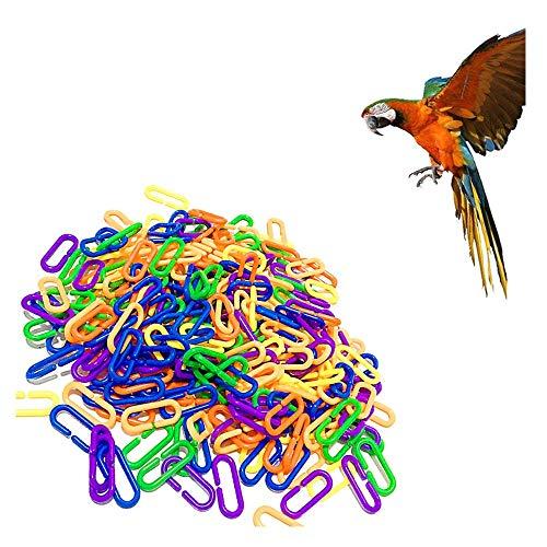2019 Durable Plastic Count C Link Zucker Segelflugzeug Papagei Vogel Spielzeugteile - Kinder Pädagogisches Spielzeug Zucker Ratte Papageien Vogel Spielzeug Teile - 100 Stück (Mehrfarbig) -