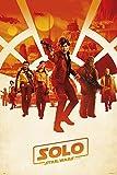 Star Wars Solo: A Story Poster One Sheet - 61x91,5 cm + 2 St. Schwarze Posterleisten mit Aufhängung
