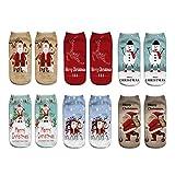 6 Paia Christmas Pattern Natale Santa Calzini Set per Bambini Stile A