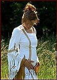 LARP Mittelalterliches Hochzeitskleid Sophia Farbe weiß/okker S-XL Kostüm Mittelalter Damen Kleid (XL)