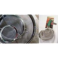 Acciaio Inox Maglia Eccellente Alimentazione Filtri Setacci Con Maniglie - Set Di 3 Colini A Maglia Eccellente, Garantite A Vita