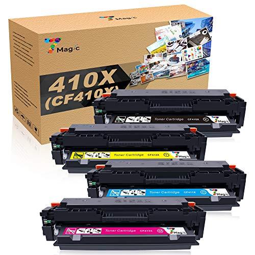 410X HP Cartucho de Tóner, Compatible HP CF410X CF410A 7Magic para HP Color Laserjet Pro MFP M477fdw M477fnw M477fdn M452dn M452nw M452dw M377dw