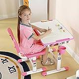 Ergonomica tavolo per bambini sedia basculante scrittorio alto regolabile in altezza dei bambini scrivania sedia con cassetto. GRATUITO Tilly Tiger cuscino - Mini (Rosa)