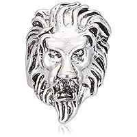 خاتم على شكل رأس اسد من التيتانيوم