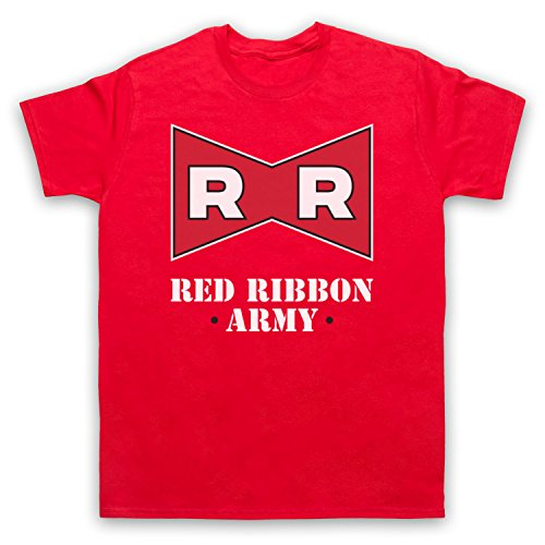 Dragon Ball Z Red Ribbon Army Herren T-Shirt Rot