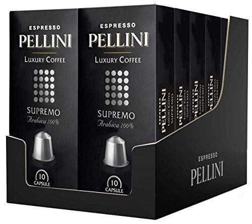 Pellini caffè, espresso pellini luxury coffee supremo, compatibili nespresso, 12 astucci da 10 capsule, 120 capsule