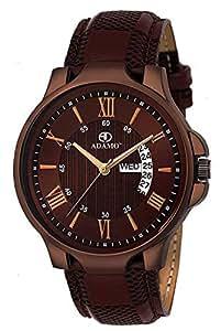 ADAMO Legacy Brown (Day & Date) Men's Wrist Watch A827SB05
