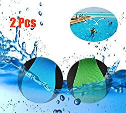 MAKFORT 2 Pack Water Ball Funny Pool Toys Balls Bounce on The Water Soft Quick-drying Lycra Ball Water Fun Water Sports Games for Pool Beach