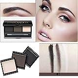 Moresave 3 Farbe Augenbrauen Lidschatten Pulver Palette mit Make-up Bleistift Schönheit Augenbrauen Enhancer
