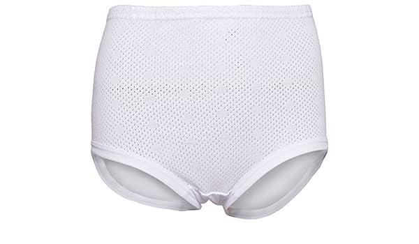 12 Ladies Cuff Legs 100/% Cotton Airtex Briefs Knickers Underwear All Sizes