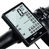 Livecity Computer da Bicicletta, Bici tachimetro contachilometri per Bicicletta, Impermeabile LCD retroilluminazione Wake Automatica con sensore per Biking Cycling Accessories, White, Taglia Unica