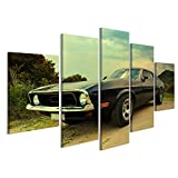 islandburner Bild Bilder auf Leinwand Vintage Muscle Car US Poster, Leinwandbild, Wandbilder