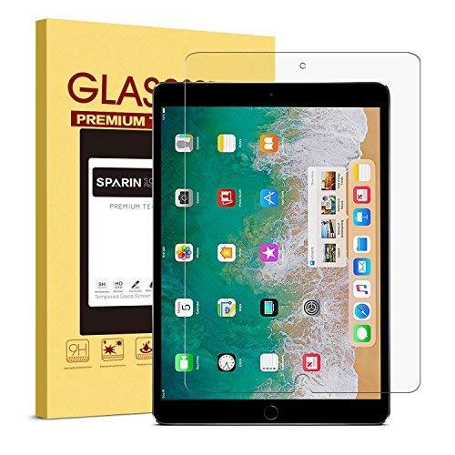 Verre Trempé iPad Pro 10.5, SPARIN Protection Ecran Vitre Pour iPad Pro 10.5 Pouces, Sans Bulles 9H Dureté