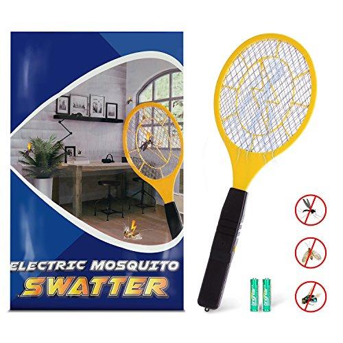 Greatever Insektenvernichter Elektrische Fliegenklatsche mit Herausnehmbaren Batterien Frei von Giftstoffen und Gerüchen Ideal für Drinnen und Draußen