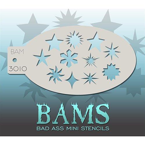 Bad Ass Mini pochoir étoiles et formes BAM3010