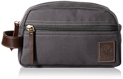 Timberland Men's Canvas Travel Kit, Charcoal