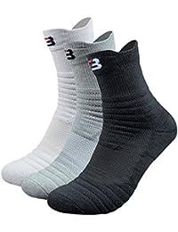 Litthing Calcetines Hombres de algodón engrosamiento deportivo Calcetines antideslizantes Transpirable para baloncesto correr…