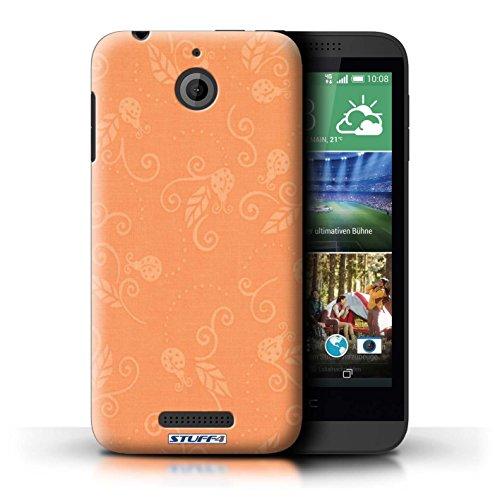 Kobalt® Imprimé Etui / Coque pour HTC Desire 510 / Rose conception / Série Motif Coccinelle Pêche