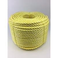 Cuerda de polipropileno 12mm amarillo x 220Metre bobina, carga Securing barco pesca Camping–RopeServices UK