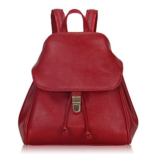 Imagen de veevan  bolso de escuela de las mujeres del bolso de la muchacha de piel sintética rojo