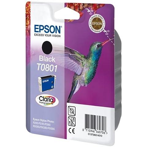 Epson T0801 - Cartucho de tinta, 330 páginas/7.4 ml, Negro