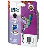 Epson Original T0801 Tintenpatrone Kolibri, Singlepack schwarz