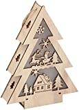 DKB-Tools-Germany LED Holz Weihnachtsbaum Deko Weihnachten Licht Beleuchtung