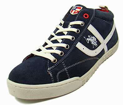 US Polo Assn Men's 3164V Navy-White Casual Shoes - 8