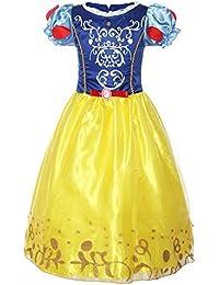ReliBeauty – fille – robe de cosplay Princesse Blanche-Neige Tenue à manches bouffante Déguisement pour enfant Contes de fées