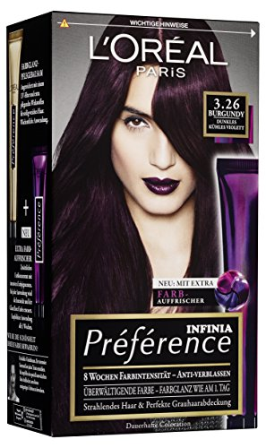 L\'Oréal Paris Préférence 3.26 Burgundy, 3er Pack (3 x 1 Stück)