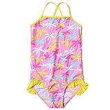 freebily Une Pièce Maillots de Bain Pour Fille Vêtement de Natation A Fleur Imprimer Costume D'été Bikini 2-12 Ans