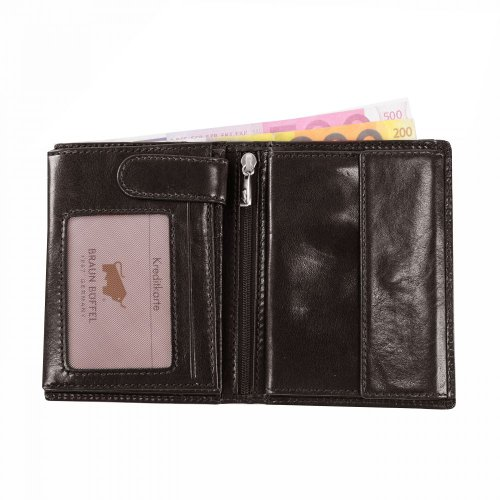 Braun Büffel Basic Porte-monnaie cuir 9,5 cm palisandro braun