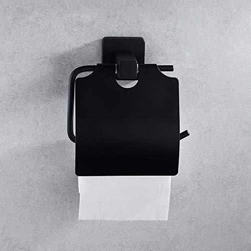 Handtuchhalter aus schwarz lackiertem Stahl. Handtuchhalter Handtuchhalter Handtuchhalter Handtuchhalter Handtuchhalter Portarotolo Semi-aperto 7804 [Serie Lato Nero] - 7804-serie