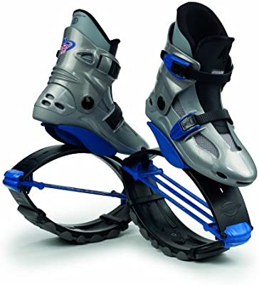 Kangoo Jumps Power Shoe (Kids) Silver and Blue, Boys 1- 3 by Kangoo Jumps KJ-Power Shoe JumpBoots