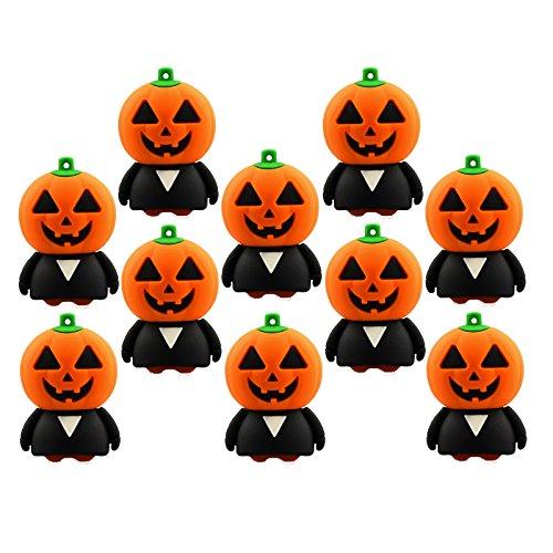 (10 Stück Kürbiskopf 32GB USB Sticks Großhandel Halloween Kürbis USB-Flash-Laufwerk 32G)