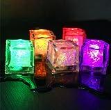 12Liquid Sensor blinkendem LED-Licht bis Glowing Ice Cube Form für Bar Party Drink Decor DIY Event Supplies