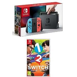 Nintendo Switch - Blu/Rosso Neon + 1-2 Switch