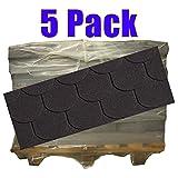 10er Pack Dachschindeln Bieberschwanz Schwarz 35 m²