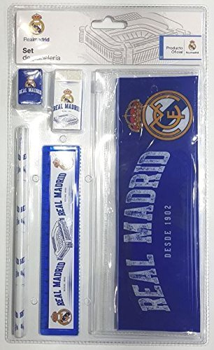 cyp, GS-04N-RM, set escolar Real Madrid CF, 5 piezas con portatodo