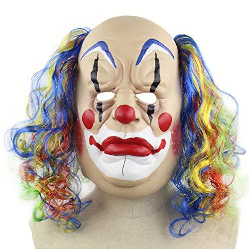 Halloween Latex Maske Beängstigend Bunte Locken Bald Clown 3D Neuheit Gruselig Teufel Kostüm Partei Cosplay Requisiten Rollenspiel Spielzeug