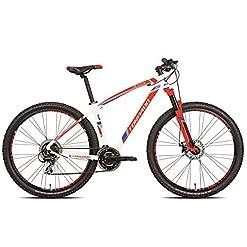 Torpado bici mtb mercury 29'' alu 3x7v disco taglia 48 bianco / rosso (MTB Ammortizzate) / bicycle mtb mercury 29'' alu 3x7s disc size 48 white / red (MTB Front suspension)