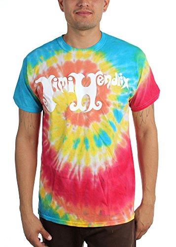 Jimi Hendrix -  T-shirt - Uomo Tie Dye Small