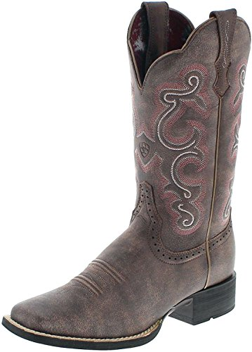 Ariat Quickdraw 21616 Chocolate/Damen Westernreitstiefel Braun/Reitstiefel/ Westernstiefel/Western Riding Boots, Groesse:41 (7 UK)