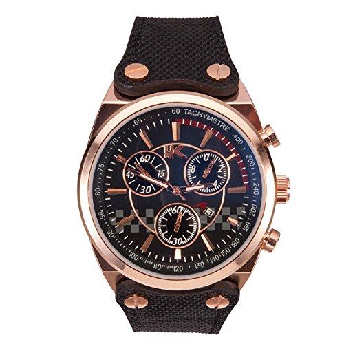 Yaki relojes para hombre sintética de fecha cronógrafo militar deporte cuarzo analógico...